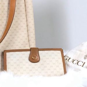 GUCCI GG Microguccissima Long Large Beige Wallet